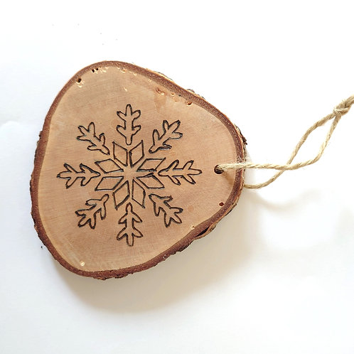 Wooden Christmas Decorations by Bethany Stone