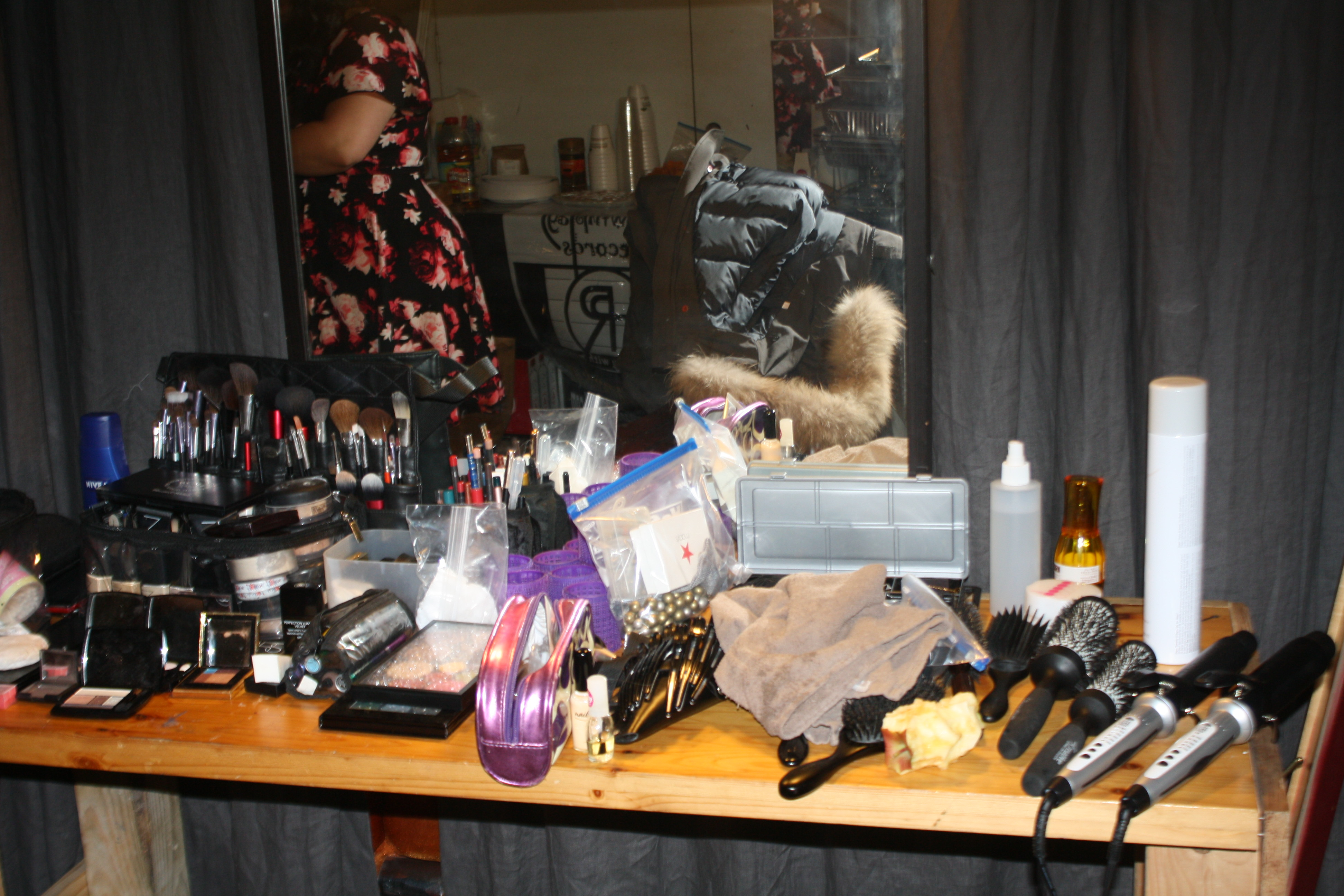 1 of 2 Makeup and hair stations