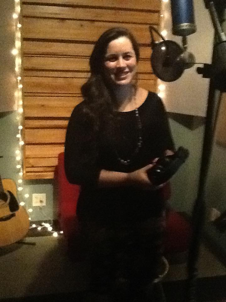 Marcella in the studio