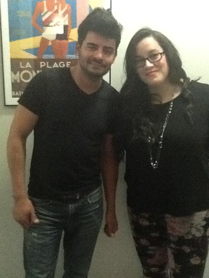 Tiago and Marcella in studio