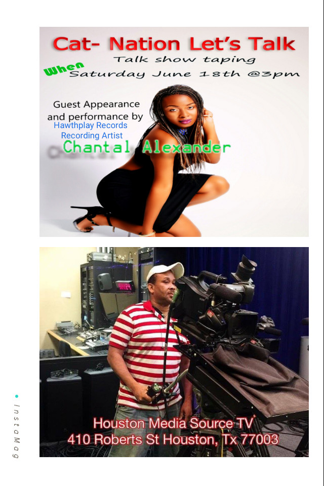 Live Performance by Chantal Alexander on HMSTV (Houston Texas) Hosted by Colin A. Thompson