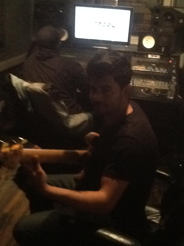 Tiago in Studio recording