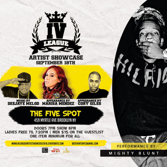 Mighty Blunt performing at the Hot97 Edition IV League Showcase  at the Five Spot September 18