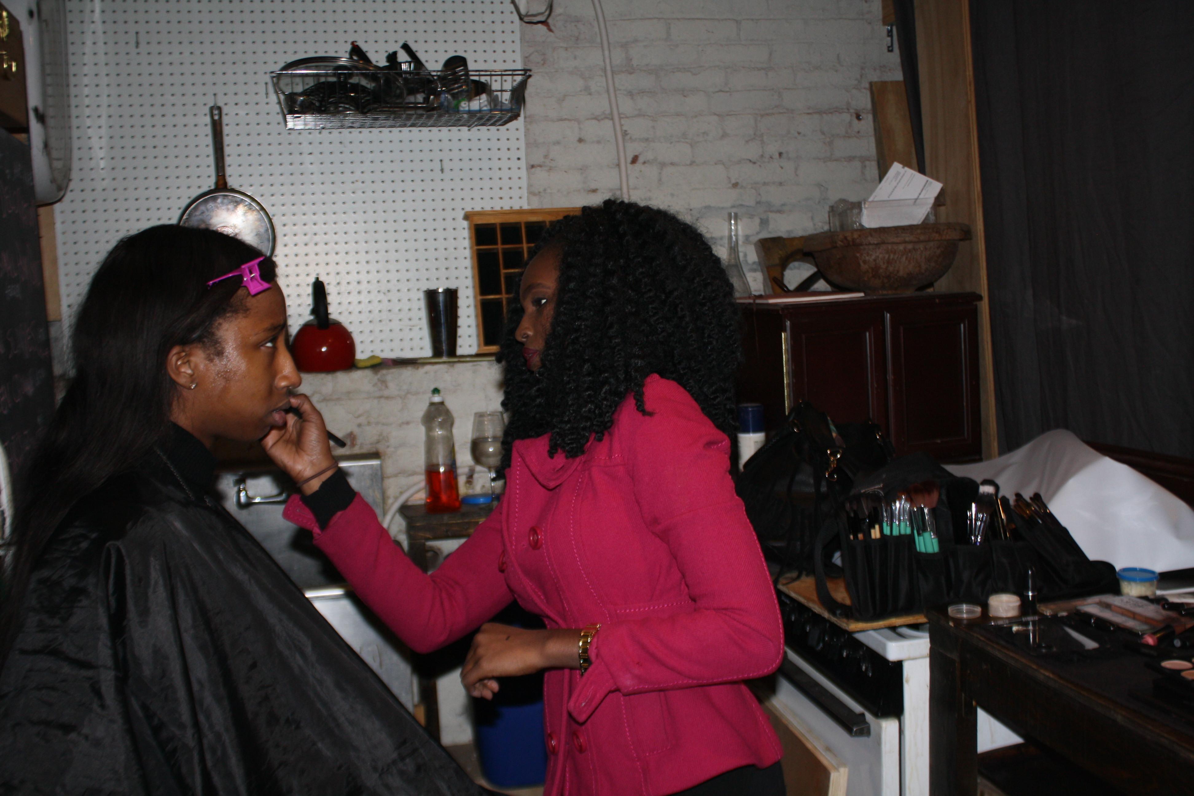 Noor and Makeup artist @work