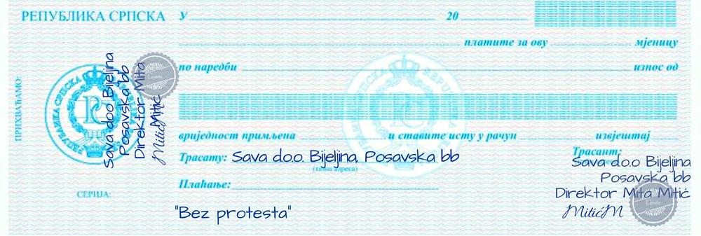 BLANKO MJENICA BEZ PROTESTA