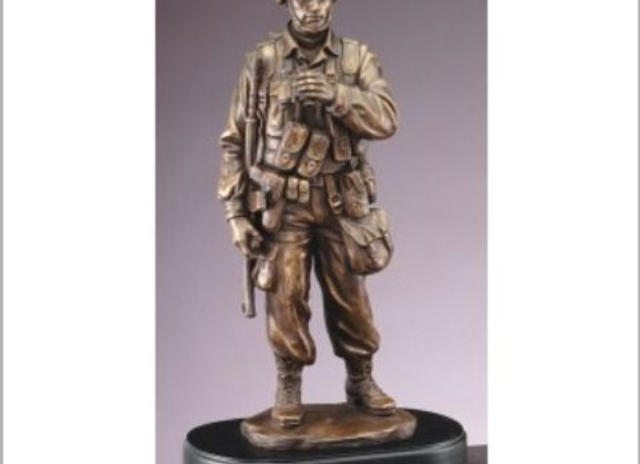 American Hero Resin Sculpture with Binoculars