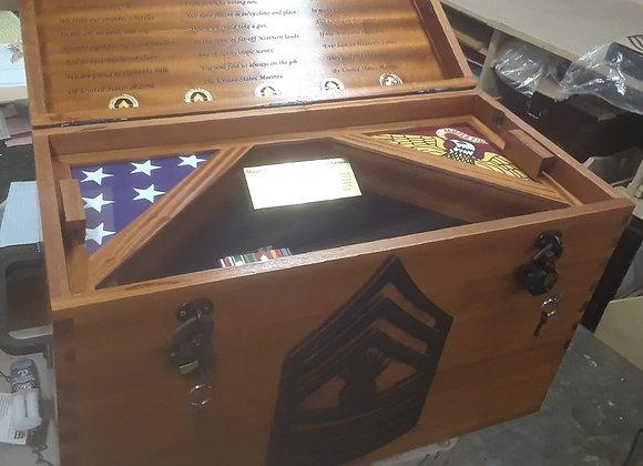 Custom Wood Trunk Shadow Box