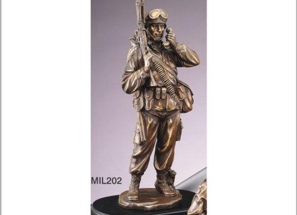 Communicator Military Resin Sculpture