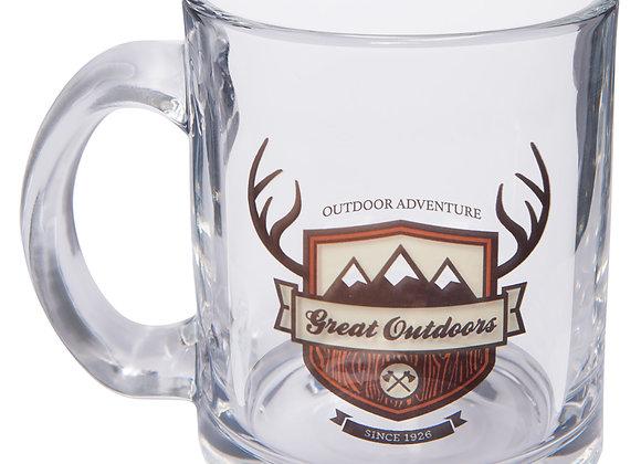 10oz Clear Glass Mug
