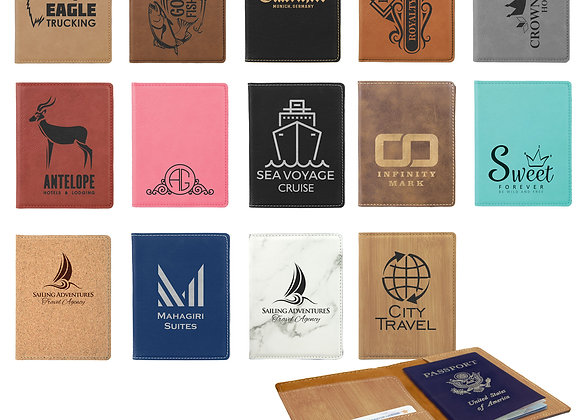 Leatherette Laserable Passport Holder