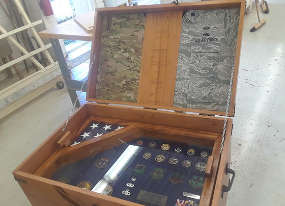 Custom Wood Trunk ShadowBox