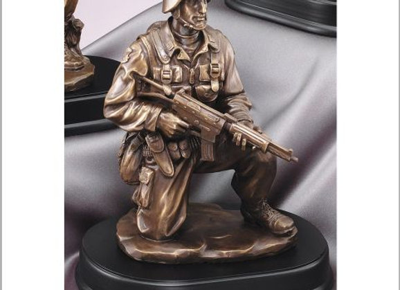Kneeling with Rifle Resin Sculpture