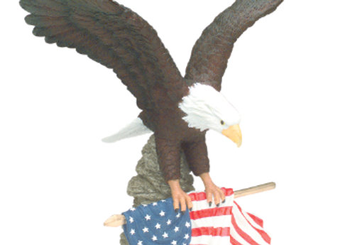 Hand Painted Eagle Statute