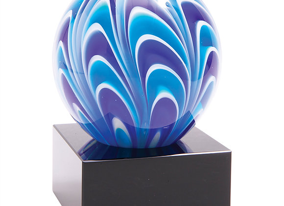 Blue/Purple Round Paperweight