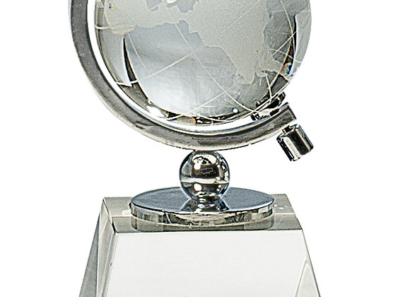 Premier Crystal Globe on Crystal Base