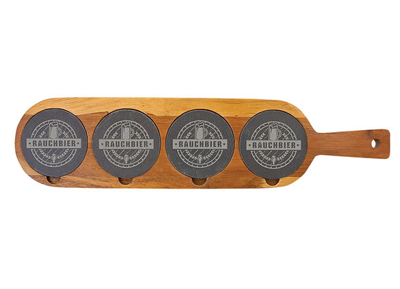 Four Flight Acacia Wood/Slate Board
