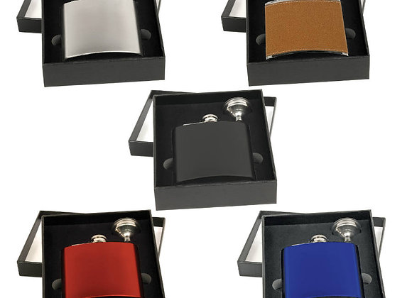 6oz Stainless Steel Flask Set with Funnel