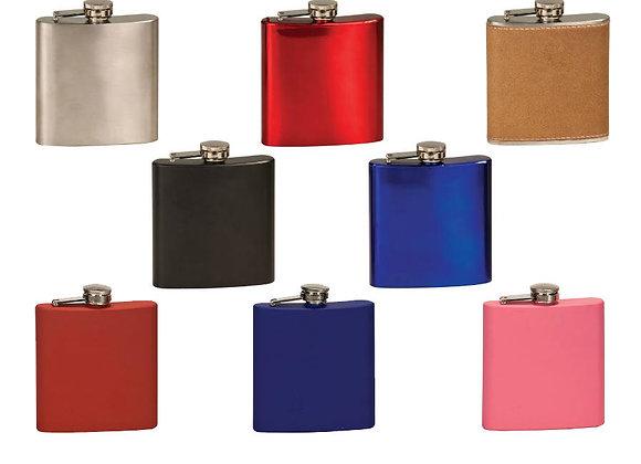 6oz Stainless Steel Flasks