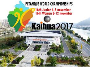 WORLD CHAMPIONSHIPS KAIHUA, CHINA 2017 - JUNIORS AND WOMEN