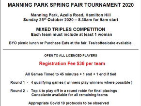 MANNING PARK SPRING FAIR TOURNAMENT 2020