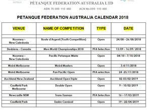 PFA CALENDAR 2018-2019
