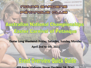 NATIONAL CHAMPIONSHIPS - EASTER CARNIVAL OF PETANQUE