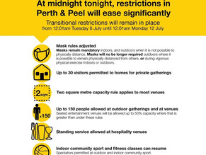 UPDATED COVID RESTRICTIONS