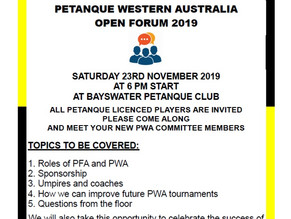 PWA OPEN FORUM 2019