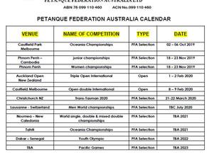 UPDATED 2019-20 PFA CALENDAR