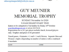 GUY MEUNIER MEMORIAL TROPHY