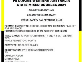 PWA STATE MIXED DOUBLES 2021