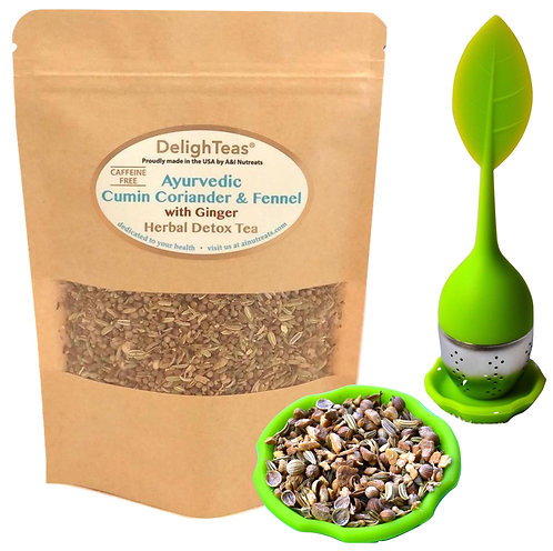 Ayurvedic Cumin, Coriander & Fennel Tea - with Ginger root
