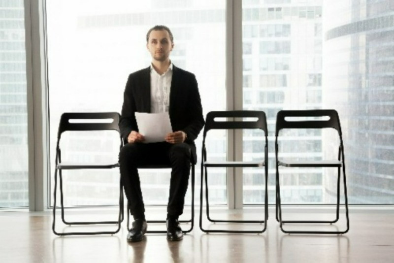 Applicant holding CV/resume