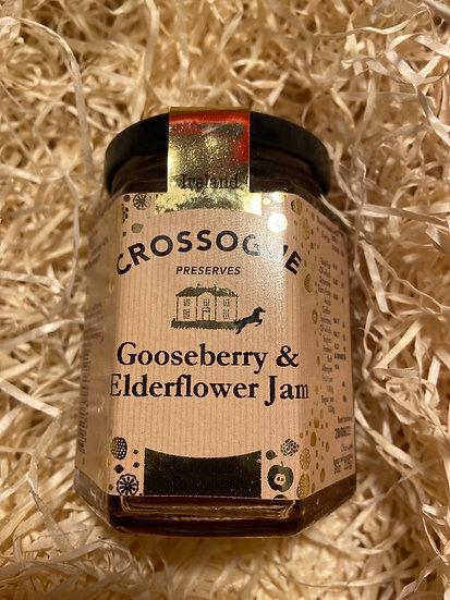Crossogue Gooseberry & Elderflower jam