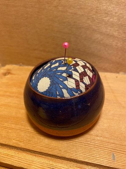 Mud lark pottery pin cushion