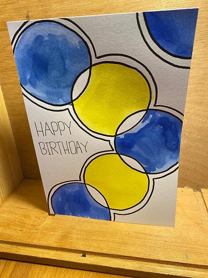Happy birthday Card - handmade by Maia