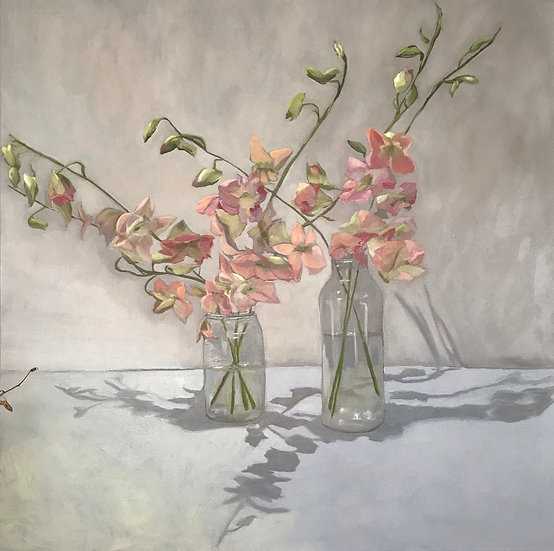 Still Life - Orchids in Glass Jars