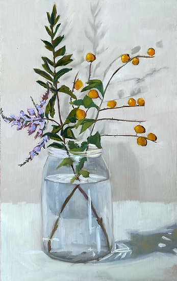 Still Life - Twig Lilac and Orange Berries