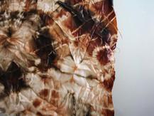 Tie Dyed Hemp Silk - Natural dyes