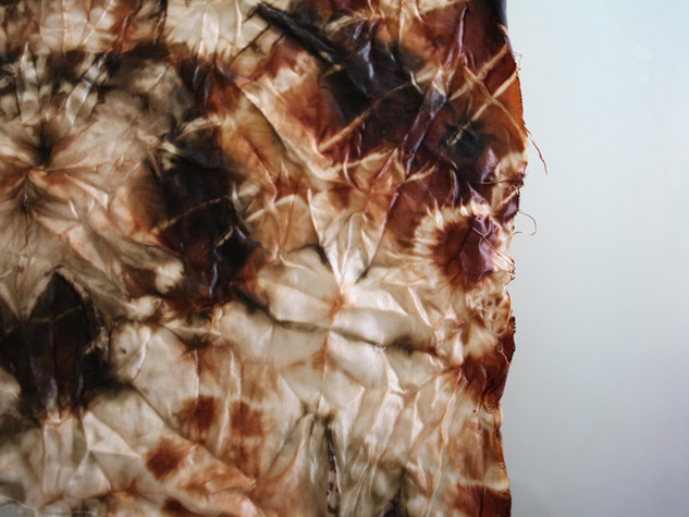 Tie Dyed Hemp Silk - Natural dyes