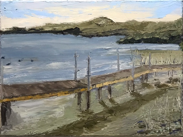 Lake Boardwalk Under Construction - PleinAirStudy