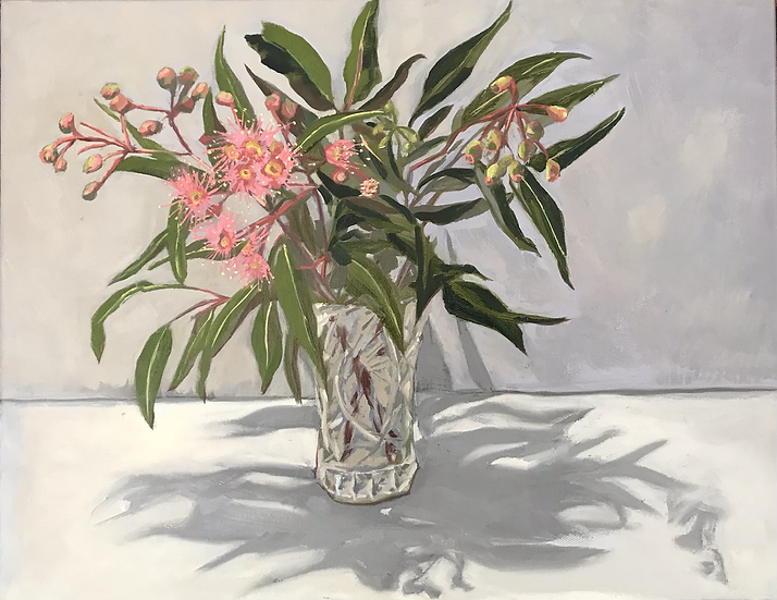 Still Life - Flowering Gum in Cut Glass Vase
