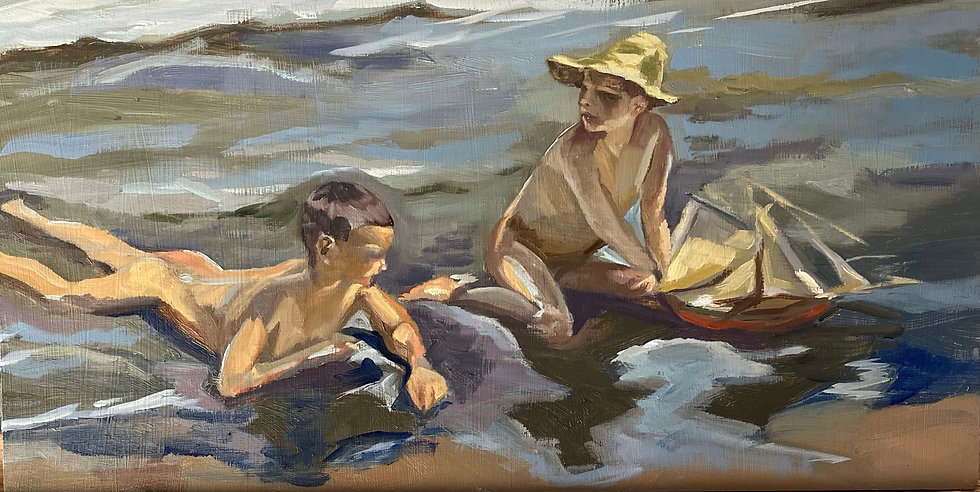 Boys at the Beach - After Sorolla