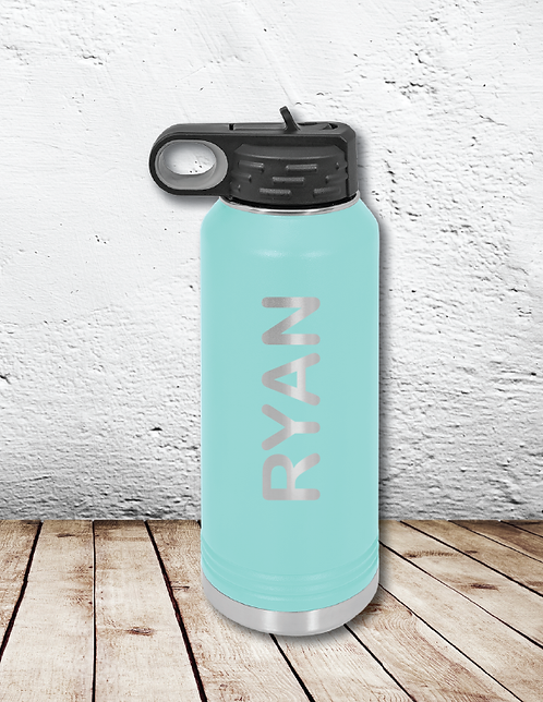 Personalized water bottles (rounded font)