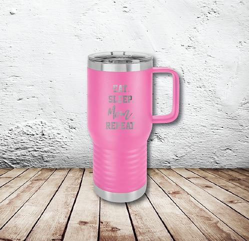 Mom Repeat 20oz Travel Mug
