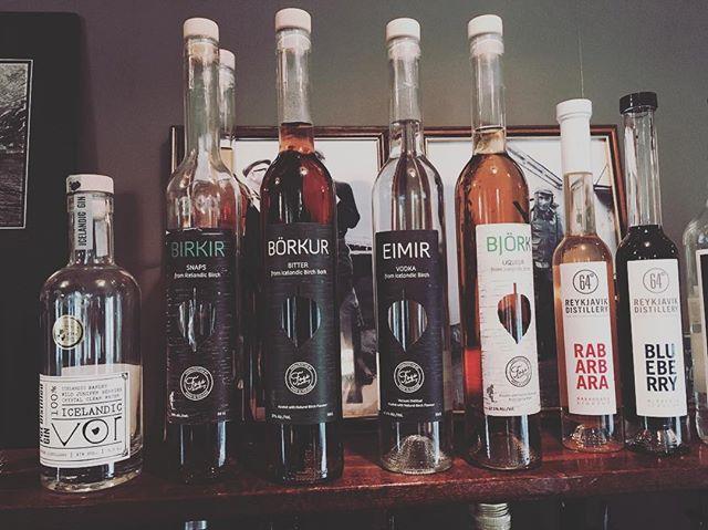 Icelandic spirits🍸🥃 #gin #snaps #birkir #börkur #eimir