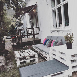Relaxation spot☕️🌻 #coffeehouse #garden #unwind #seydisfjordur