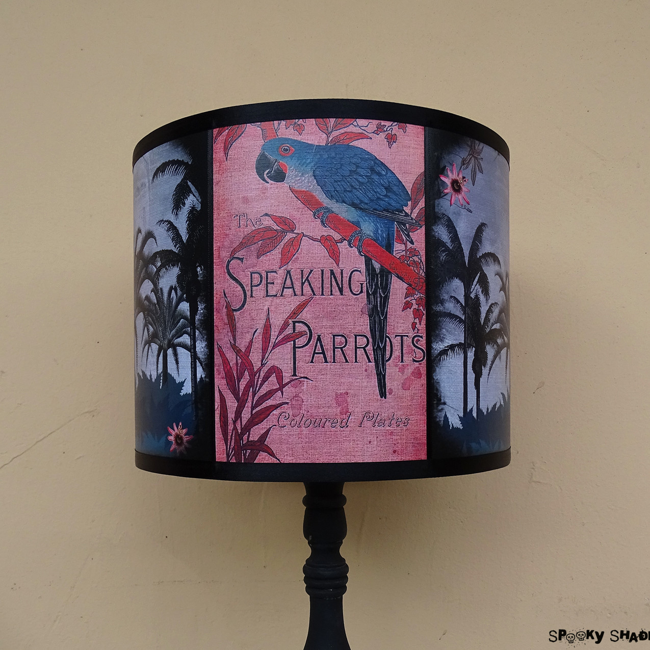 Speaking Parrot tropical lampshade