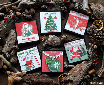 New: Vintage Christmas coasters