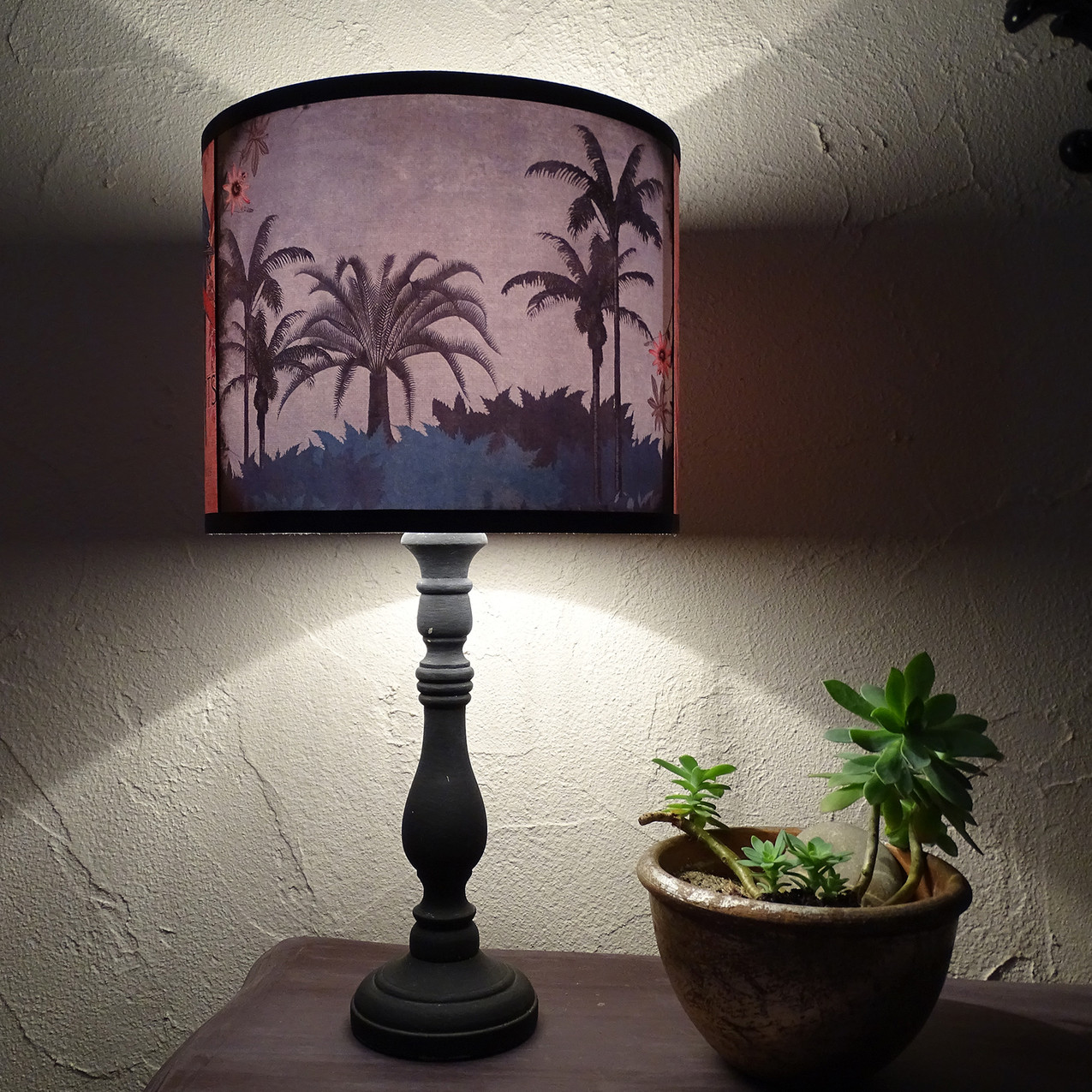 Speaking Parrots palms lampshade